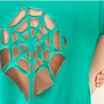 DIY Spiderweb Tee Shirt