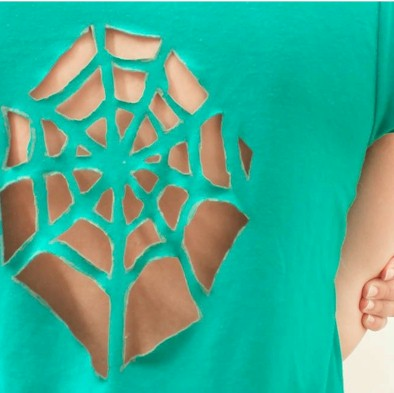 DIY Spiderweb Tee Shirt