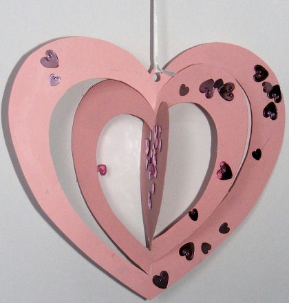 Image of Spinning Heart Mobile
