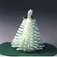 Image of Drinking Straw Christmas Tree