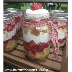 Image of Strawberry Shortcake in a Mason Jar