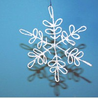 Image of String Art Snowflake