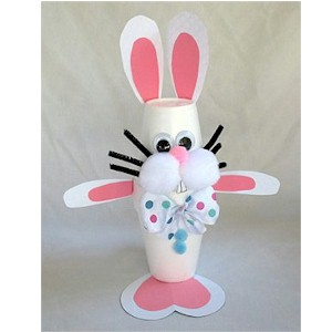 Styrofoam Cup Easter Bunny