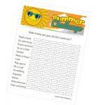 Printable Summer Challenge
