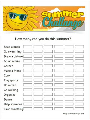 Image of Printable Summer Challenge