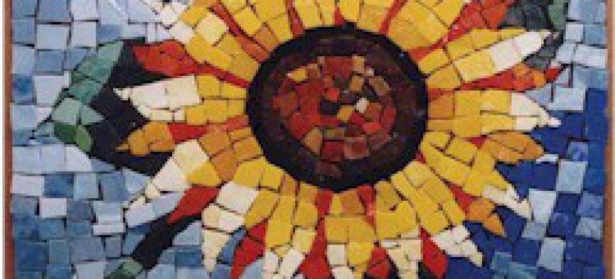 Sunflower Mosaic Free Kids Crafts
