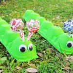 Sweet Egg Carton Caterpillars
