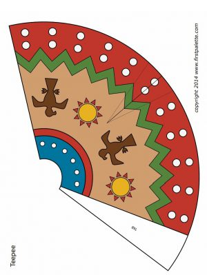 Thanksgiving teepee craft for Teepee craft template