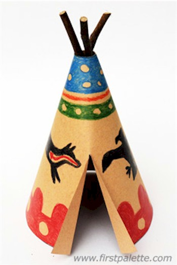 Paper Teepee with printable template