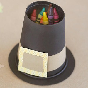 Image of Pilgrim Hat Crayon Holder
