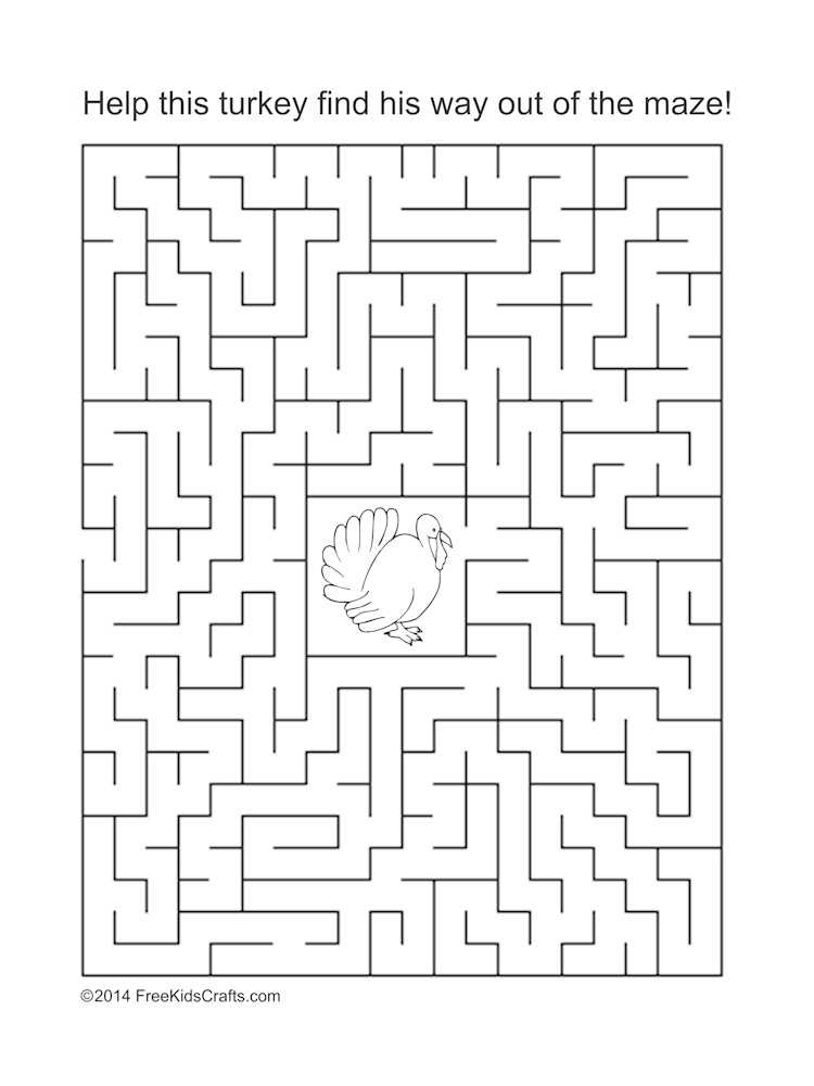 Image of Thanksgiving Maze