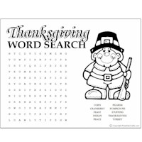 Image of Thanksgiving Word Puzzles