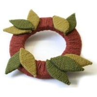 Image of Fall Yarn Wreath