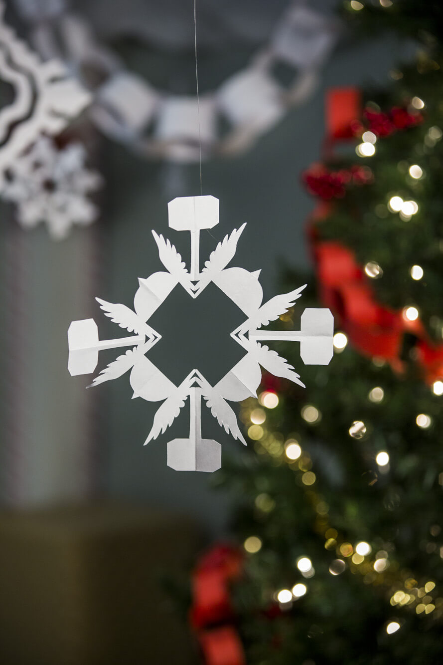 Image of Thor Superhero Snowflake Pattern