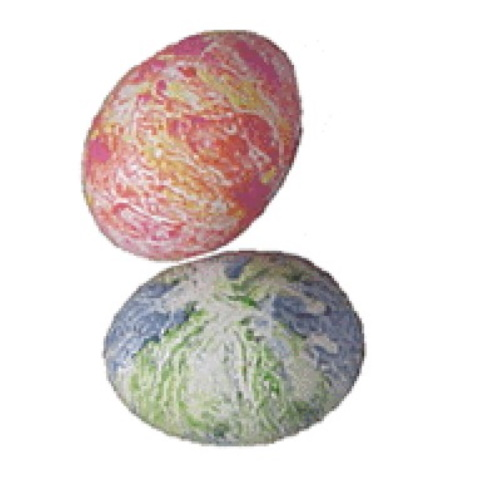 Easter Eggs Made from Crayon Shavings