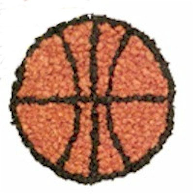 Image of Tissue Paper Basketball Craft