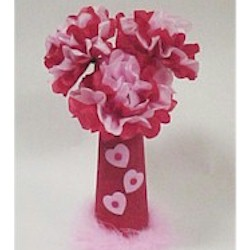 Image of Tissue Paper Flower Bouquet