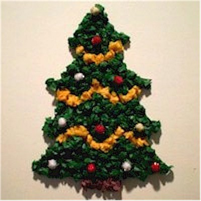 Tissue Paper Christmas Tree Decoration