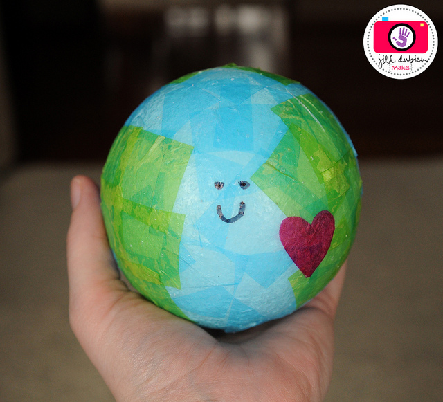 globe craft ideas tissue paper earth day globe 2095