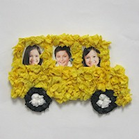 Image of Tissue Paper School Bus Frame