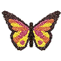 Image of Bead and Safety Pin Butterfly