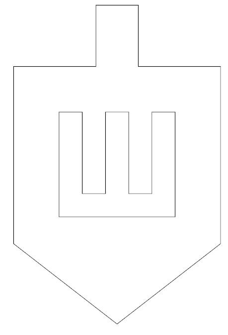graphic about Dreidel Printable identified as Tissue Paper Dreidel