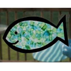Tissue Paper Fish Craft