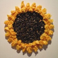 Tissue Paper Sunflowers