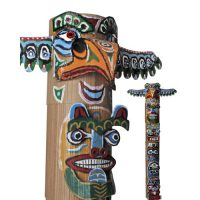 Image of Recycled Cardboard Tube Bear Totem Pole Craft