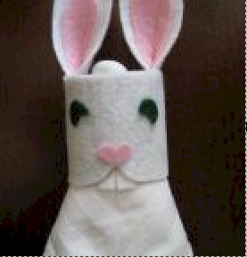Image of Cotton Ball Easter Bunny