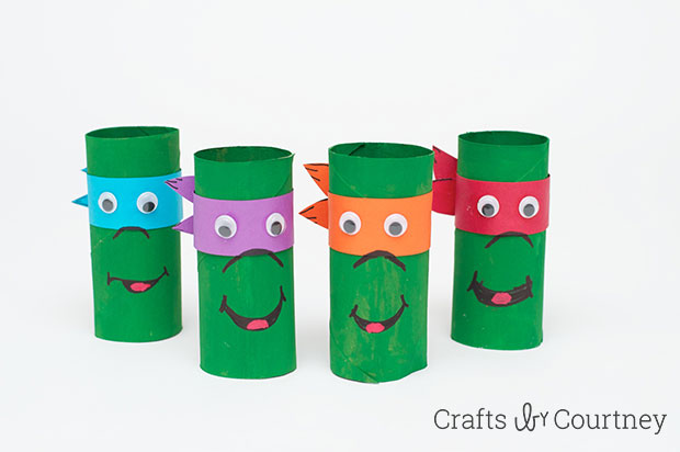 Image of Cardboard Tube Ninja Turtles