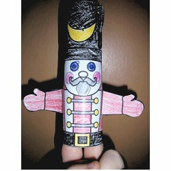 Image of Cardboard Tube Nutcracker Puppet