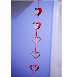 Cardboard Tube Heart Garland