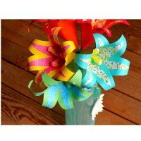 Image of Fringed Tissue Paper Flower Decoration