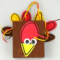 Image of Thanksgiving Turkey Paper Bag Puppet