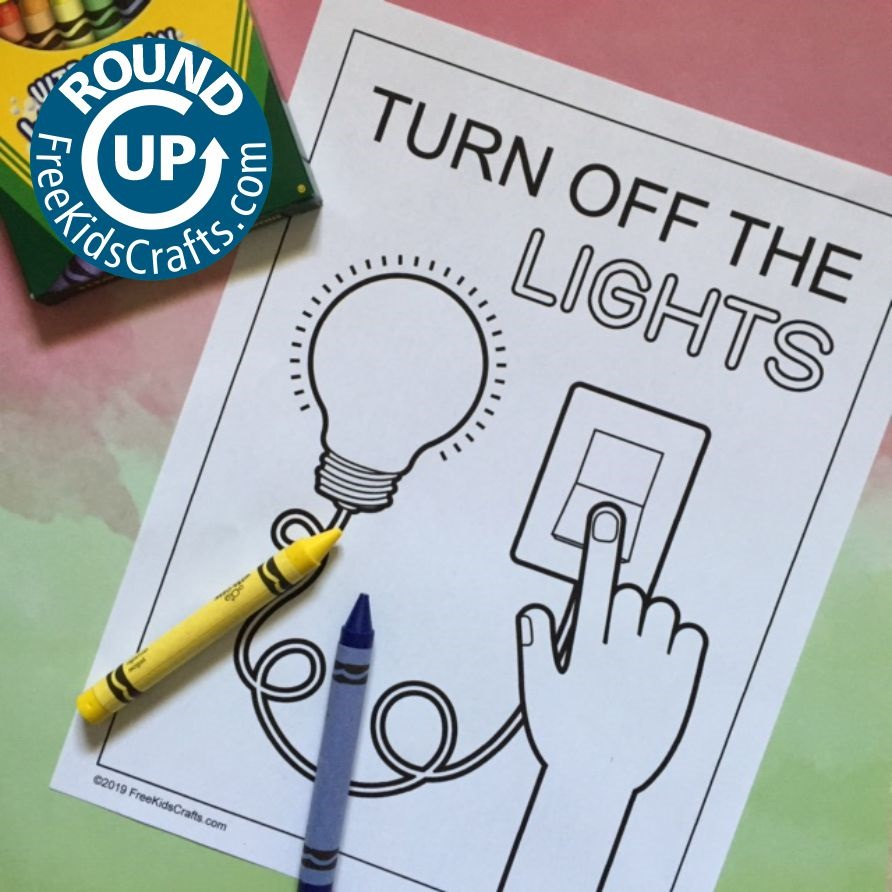 Turn Off the Lights coloring page