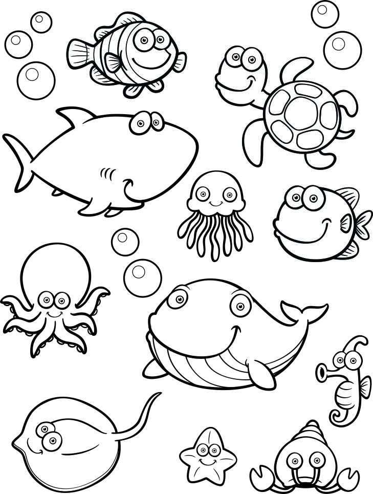 It's just a photo of Slobbery Under the Sea Printable