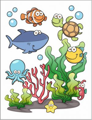 It is an image of Amazing Under the Sea Printables Free