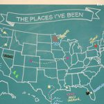 USA Chalkboard Map