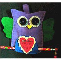 Image of Cute Pom Pom Owl