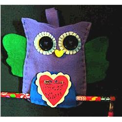 Valentine Felt Owl