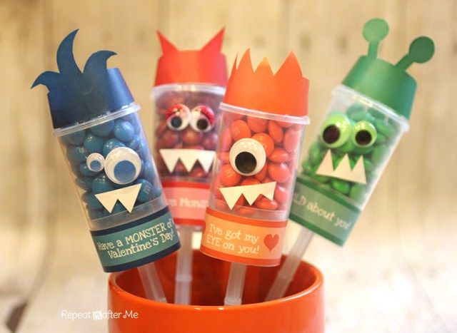 Valentine Monster Push Pops