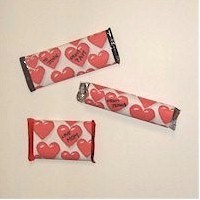 Image of Valentine  Candy Wrappers