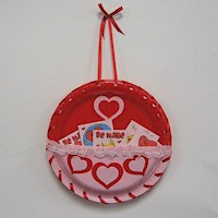Image of Paper Plate Valentines Day Card Holder