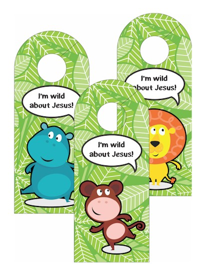 Image of VBS Jungle Door Hangers