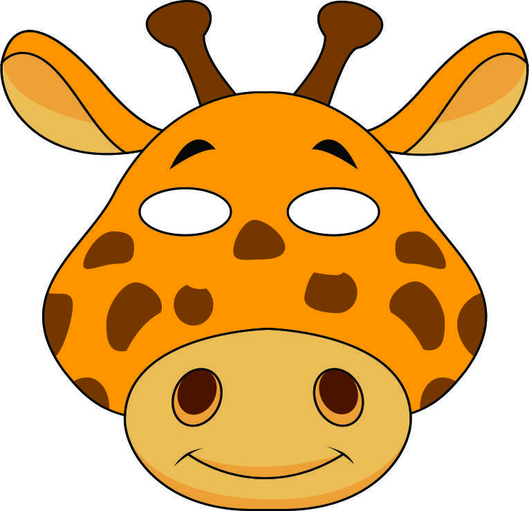 Declarative image with free printable animal masks