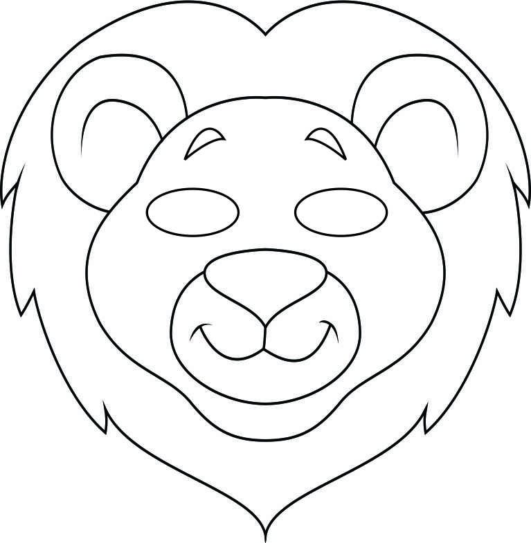 Lion Mask Template Patterns, templates and