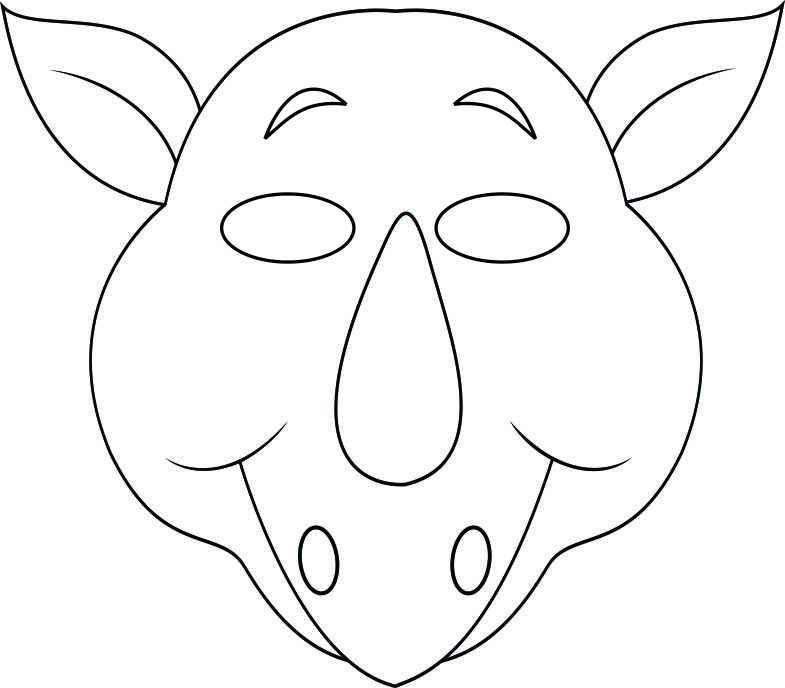 vbs-jungle-animal-mask-rhino-bw