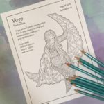 September Zodiac Coloring Page (Virgo)
