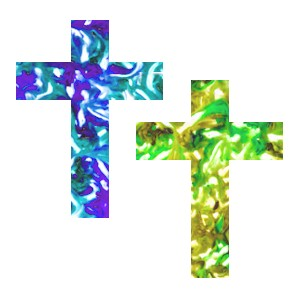 Make a window cling cross for Cross craft for kids